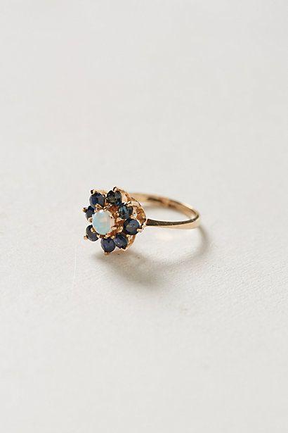 Vintage Sapphire Bloom Ring by #shopFiligree #anthropologie