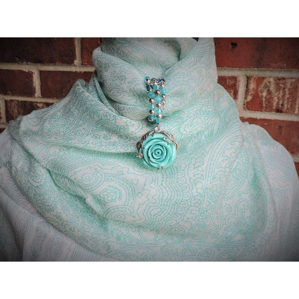 Silver and teal flower purse wrap ($14) ❤ liked on Polyvore featuring accessories, scarves, silver wrap shawl, silver scarves, beaded shawl, flower scarves and teal scarves
