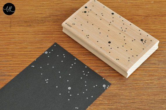 rubber stamp: large STARRY SKY by bastisRIKE on Etsy, €18.90
