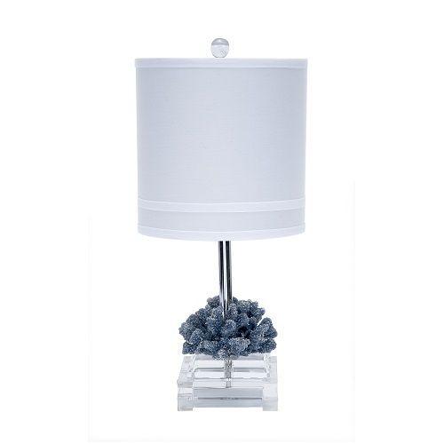 Blue Coral Accent Lamp - Design Chic