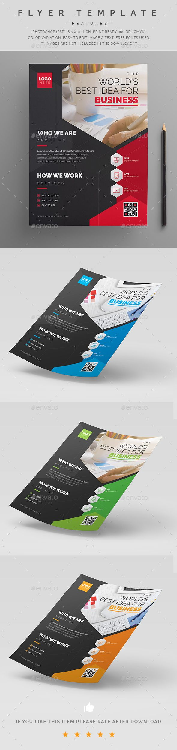 Business Flyer Template PSD
