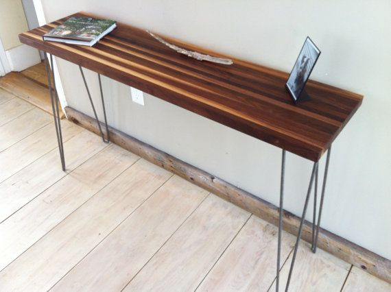 Mid century modern sofa table, entry table or console table ...