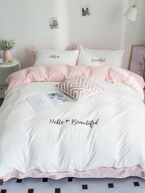Solid Letter Tassel Sheet Set New Comforters Blankets On Sale