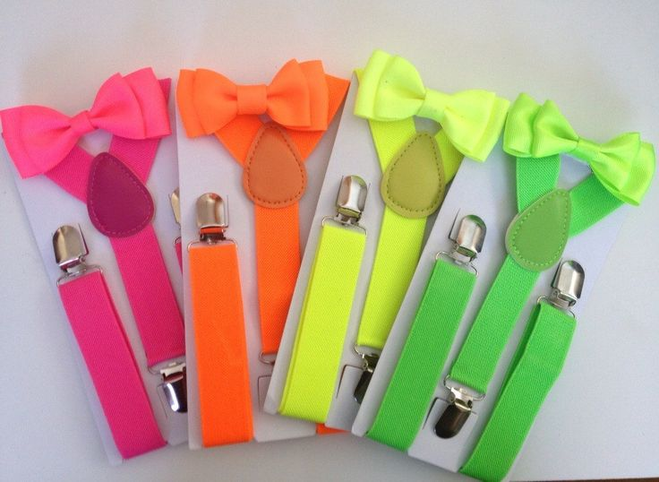 Neon Suspender & Bow tie set Boy Hot Yellow Bowtie Baby Shower Neon Party Hot Pink Toddler Necktie Men Groomsmen Wedding Ring Bearer Outfit by BePrettyBeBold on Etsy https://www.etsy.com/listing/225092021/neon-suspender-bow-tie-set-boy-hot