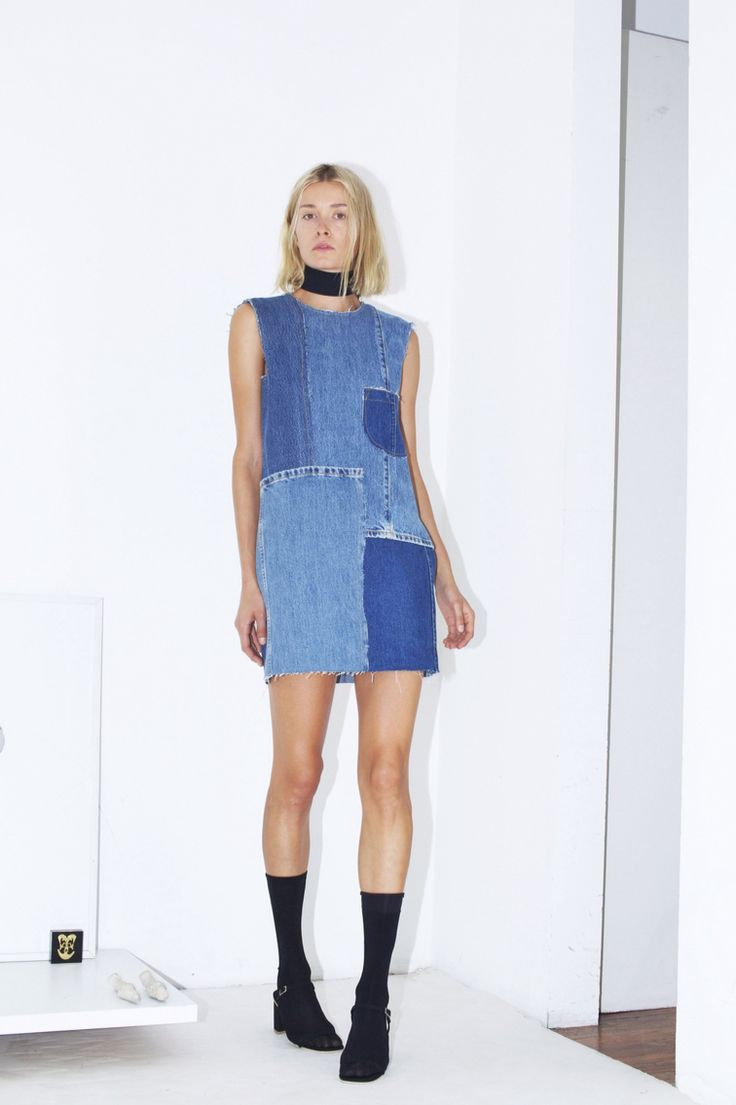 Assembly New York Spring 2016 Ready-to-Wear Collection Photos - Vogue -  patchwork denim dress!