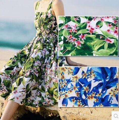 DIY vintage european style flower printing pure cotton fabric 100*142cm/pc accpet wholesale have stock