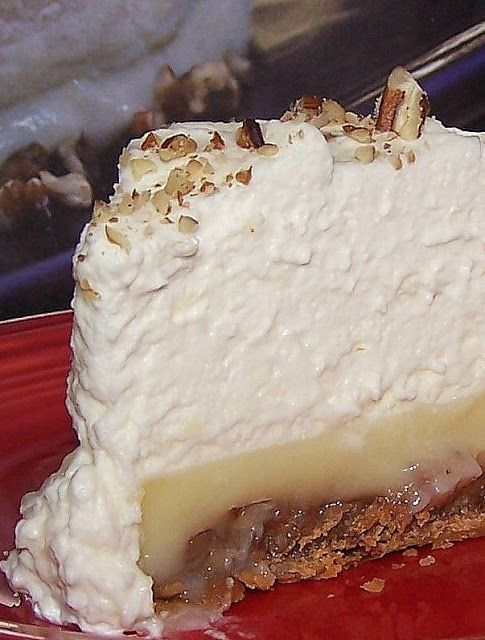 Praline Custard Pie ~ Just some knock your socks off delicious!