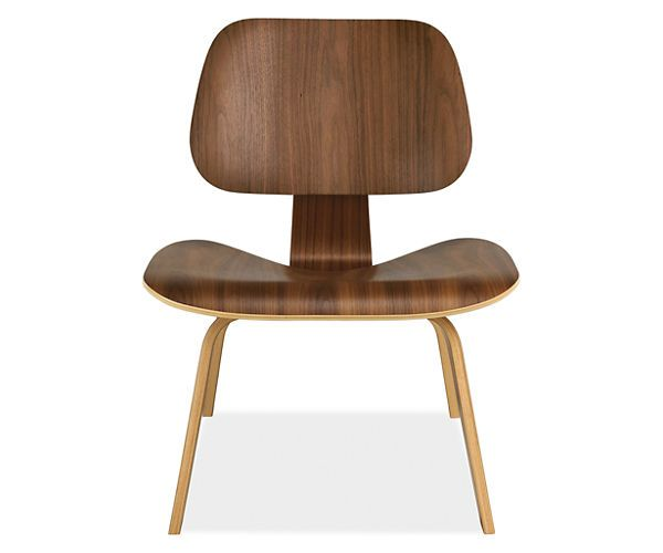 Room & Board - Eames® Molded Plywood Lounge Chair with Wood Leg in Walnut by