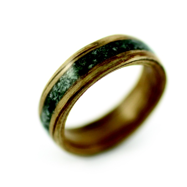 Wood Pearl ring