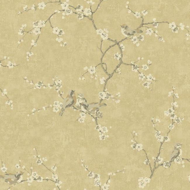 Wallpaper Inn Store - Birds and Blossoms with Crackle Gold Background, R1.295,00 (http://shop.wallpaperinn.co.za/birds-and-blossoms-with-crackle-gold-background/?page_context=category