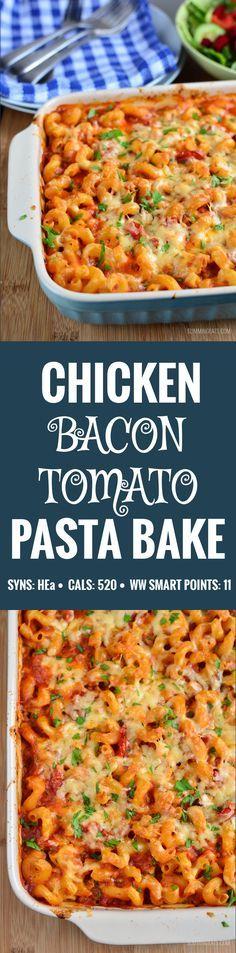 Slimming Eats Chicken Bacon Pasta Bake - gluten free, Slimming World and Weight Watchers friendly