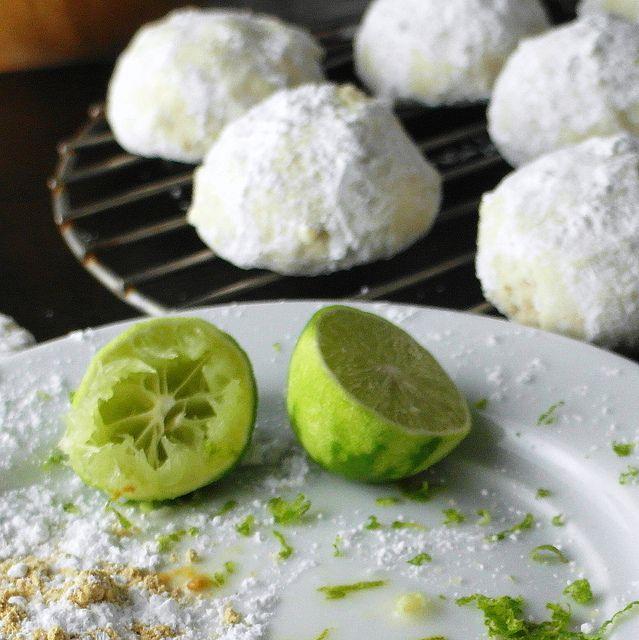 Thai Ginger Key Lime Wedding Cookies by onlinepastrychef, via Flickr