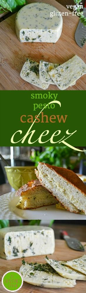 Make it at home! #plant-based Smoky Pesto Cashew Cheez #recipe from An Unrefined #Vegan.