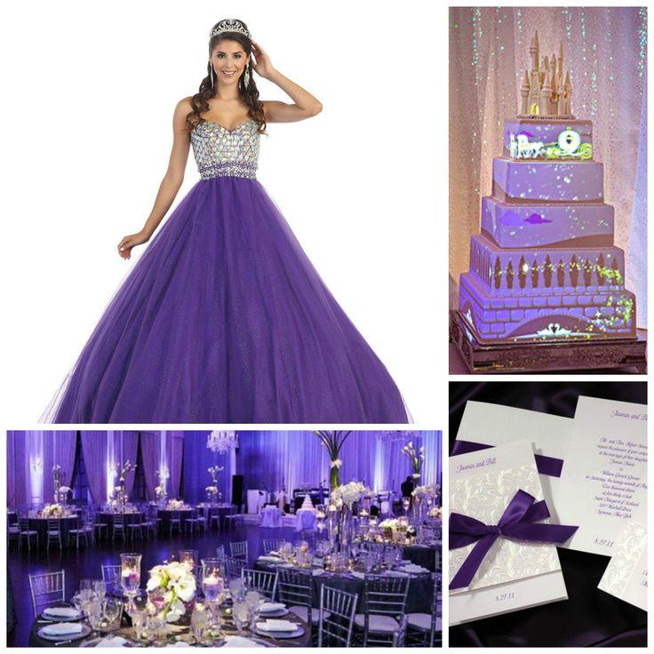 Princess Theme   Purple Quinceanera   Quinceanera Ideas   Quinceanera Party Planning  