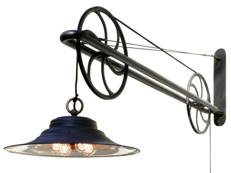 Amazing Design Wall Mount Swing Arm Lamp Stylist And Luxury Large Pulley Industrial At 1stdibs