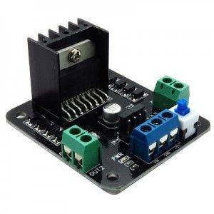 • Basé sur le très répandu double circuit intégré pilote de moteur à pont en H L298• Alimentation du moteur :  de 7 à 24 VCC• Logique de contrôle :  niveau logique TTL standard• 4 indicateurs de direction à DEL