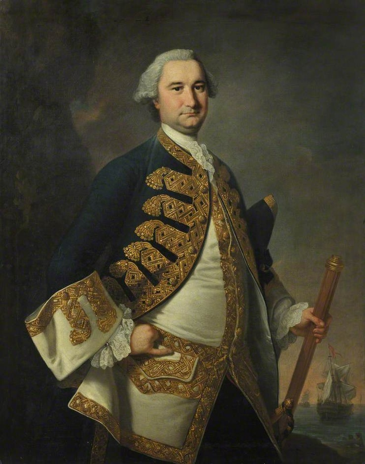 """Rear-Admiral Richard Tyrrell"", Thomas Hudson, ca. 1761; National Maritime Museum BHC3064"