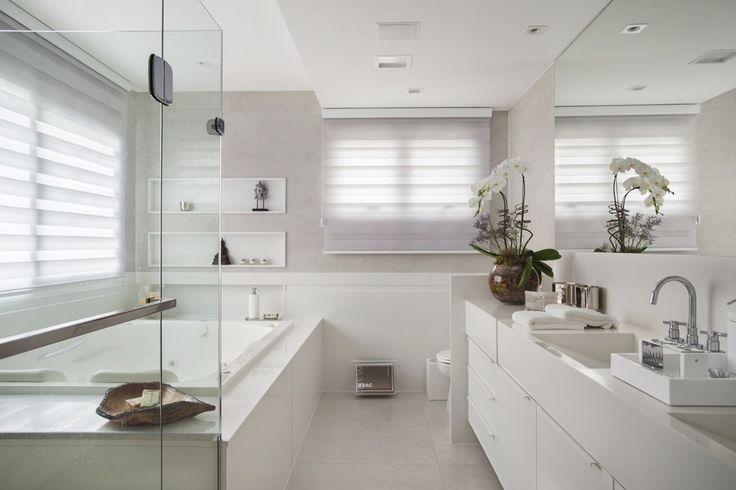 Fotos de banheiros modernos banheiro da suíte master  Masters and Arquitetura -> Decoracao De Banheiros Com Banheiras Fotos