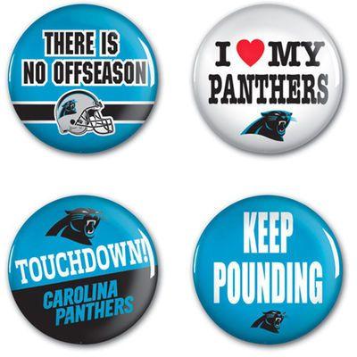 WinCraft Carolina Panthers  4-Pack Button Set