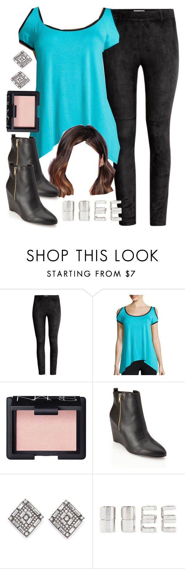 """""""Aria Montgomery inspired outfit for a Super Bowl party"""" by liarsstyle ❤ liked on Polyvore featuring H&M, Bisou Bisou, NARS Cosmetics, Forever 21, women's clothing, women's fashion, women, female, woman and misses"""