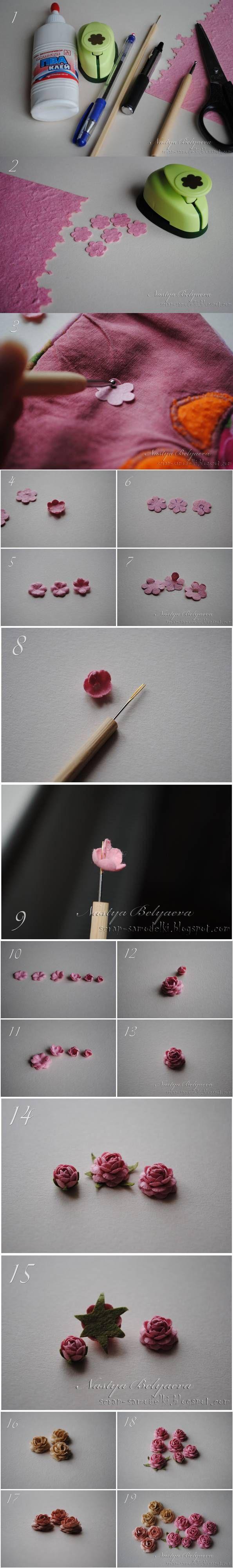 219 best homemade flowers images on pinterest