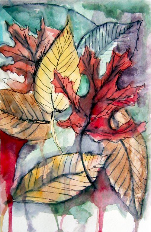 Alisa Burke... Autumn!!!Leaf Painting, Fall Leaves Painting, Alisa Burke Art, Autumn Leaves, Watercolors Leaves, Painting Of Leaves, Fall Watercolors, Fall Leaves Watercolor, Leaves Watercolors