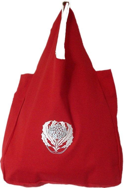 Organic Cotton Red Waratah Shopping Bag $29.95