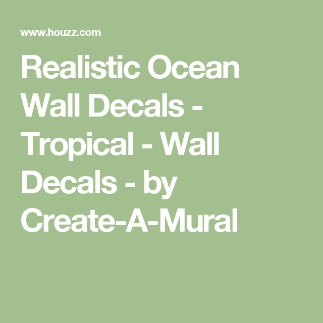 Realistic Ocean Wall Decals - Tropical - Wall Decals - by Create-A-Mural