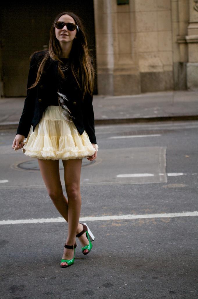 I'd rock that if I had long skinny legs.  SO CUTE.