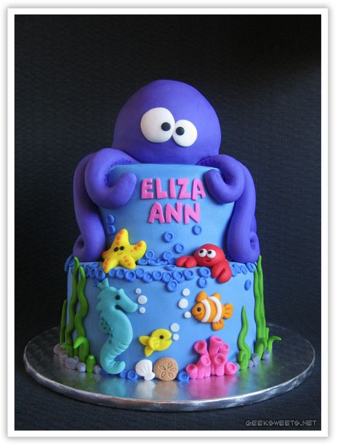 Under the Sea octopus cake