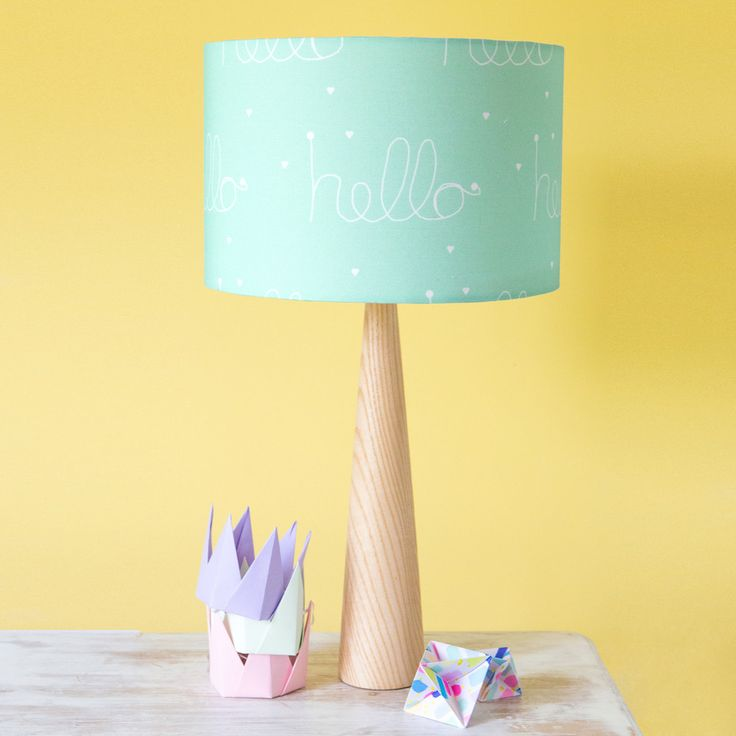 Scandi Hello Mint Green Wooden Table Lamp – hunkydory home