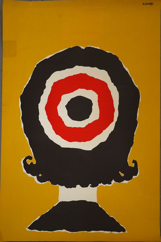 poster for London Transport by Abram Games (1958)
