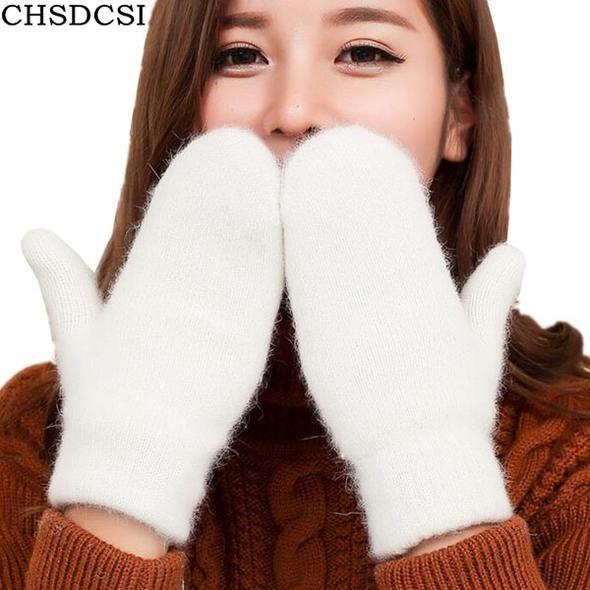 Pretty Black Girls Summer Rabbit Fur Half Finger Gloves Mittens