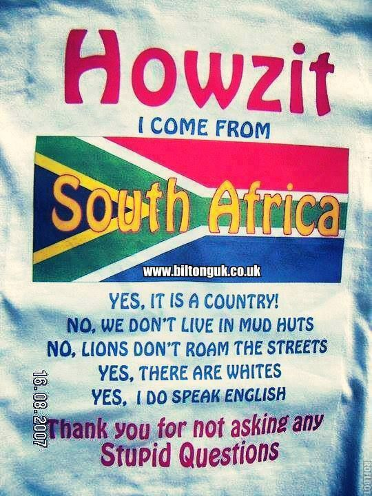 Facts about South Africa! Americans, please read! :)