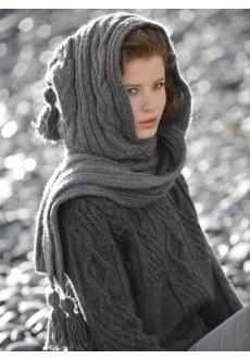 patron tricot echarpe capuche