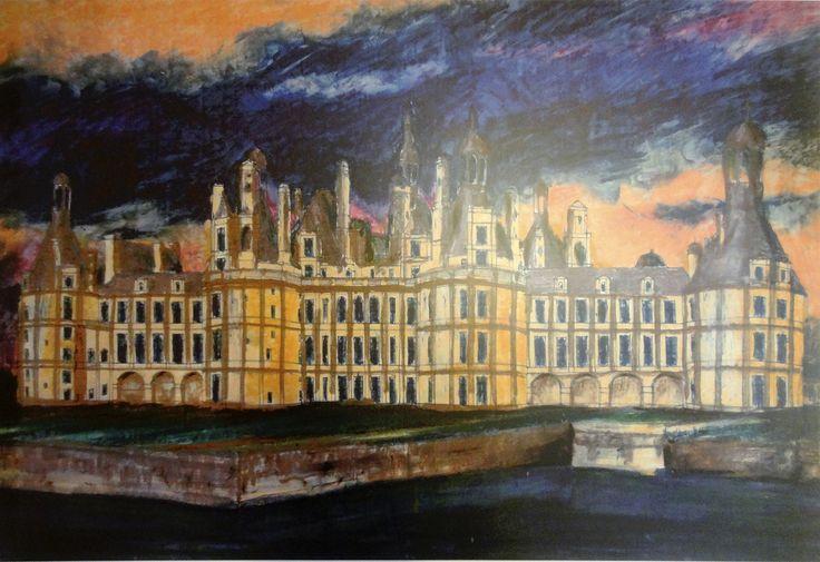 Chambord Chateau - France, oil painting, svejkovsky.ivo@gmail.com Instagram: ivo_svejkovsky