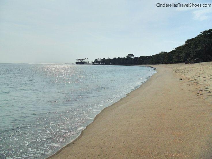 Empty beach in Senggigi, Lombok in November