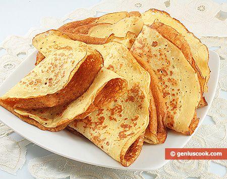 Crepes con farina di ceci | pizze (rustici, torte salate, pane) | Gastronomia Geniale - Ricette di piatti saporiti e utili per la salute