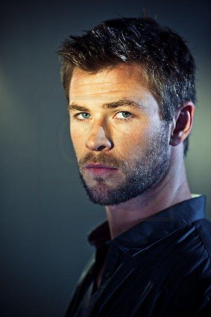 Chris Hemsworth. He looks good with short hair as well!