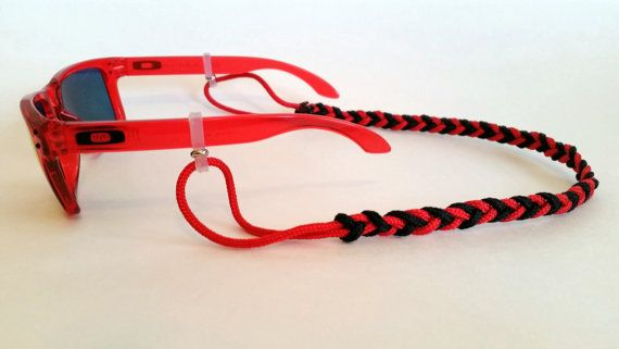 Paracord sunglass strap. Hey, I found this really awesome Etsy listing at https://www.etsy.com/listing/219968660/custom-paracord-sunglass-strap-fishtail