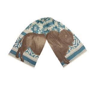 Bison Scarf 20x75 Cadet, $98, now featured on Fab.