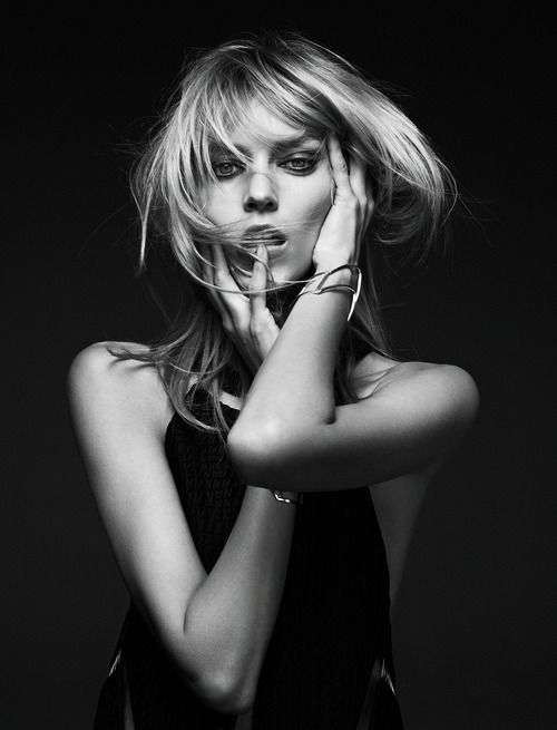 Anja Rubik photographed by Barnaby Roper