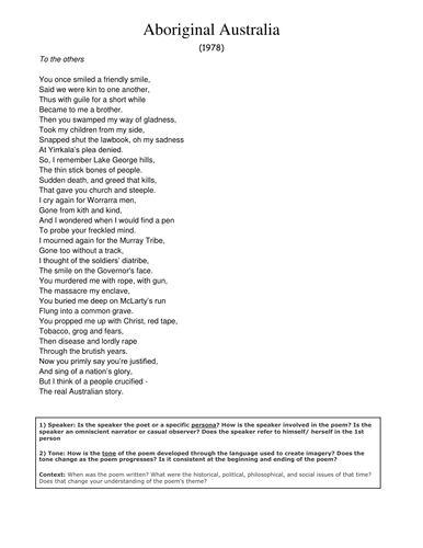 Indigenous Australian Poems