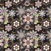 Mehndi Flowers in Dark Background by pearl&phire