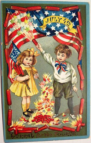 Vintage Postcard - 4th of July by riptheskull, via Flickr