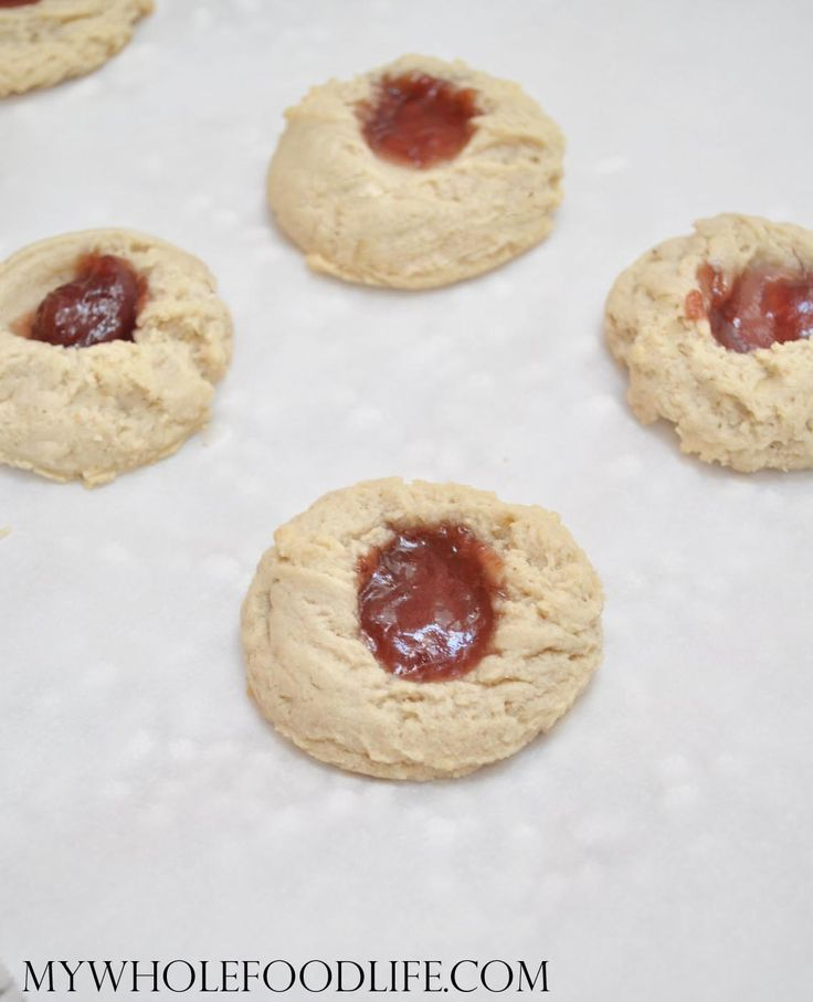 Raspberry Almond Thumbprit Cookies - My Whole Food Life