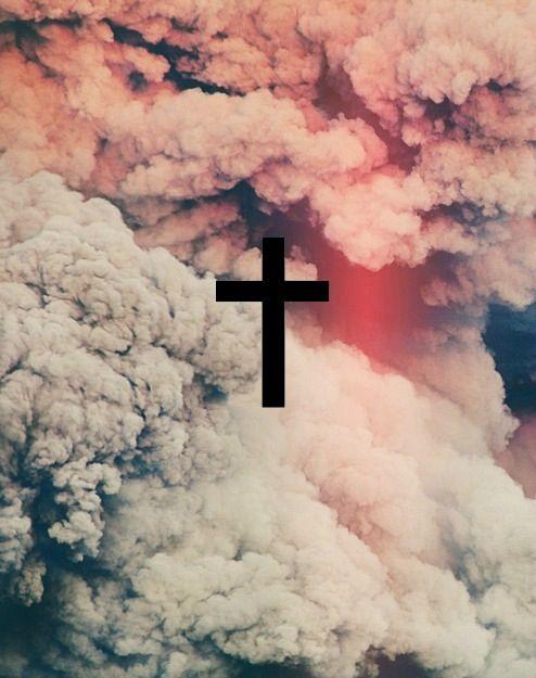 Cross and smoke