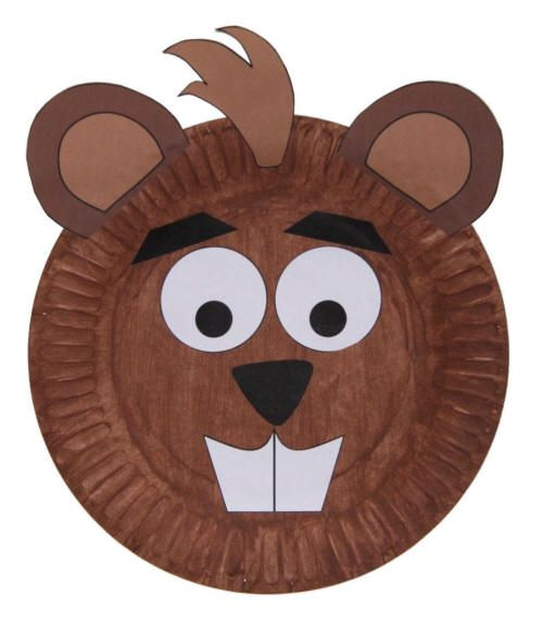 This is a cute beaver craft using a paper plate, and a template, which can be printed, for the facial features.