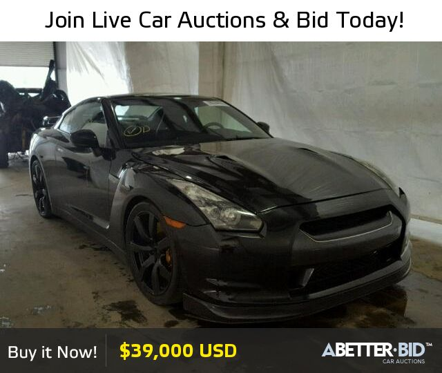 Salvage  2009 NISSAN GTR for Sale - JN1AR54F69M252432 - https://abetter.bid/en/29950116-2009-nissan-gt-r--premi
