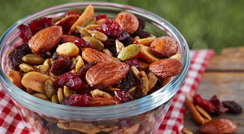 Salty & Sweet – it's the perfect roat trip treat! Try @Olson_Anna's Trail Mix recipe http://bit.ly/2r3QwH0